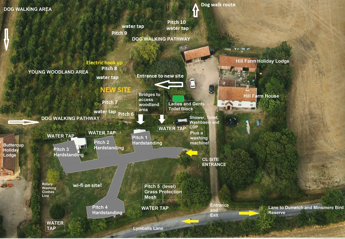 Hill Farm CL 2018 Aerial Map